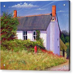 The Red Milk Churn, 2003 Pastel On Paper Acrylic Print by Anthony Rule