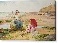 The Red Parasol Acrylic Print by Alfred Glendening Jr