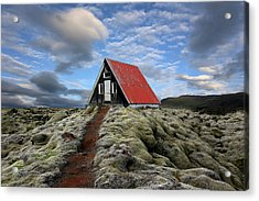 The Red Path To The Red Roof Acrylic Print