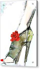 The Red Peony Shoe Acrylic Print