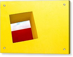the Red Rectangle Acrylic Print by Prakash Ghai