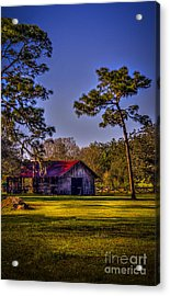 The Red Roof Barn Acrylic Print