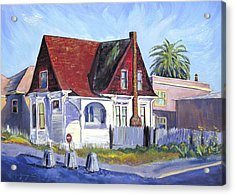 Acrylic Print featuring the painting The Red Roof House by Asha Carolyn Young