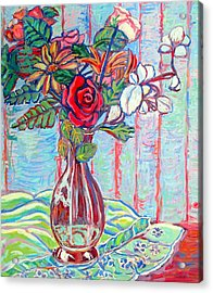 The Red Rose Acrylic Print by Kendall Kessler