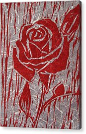 The Red Rose Acrylic Print by Marita McVeigh