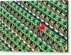 The Red Seat At Fenway Park I Acrylic Print by Clarence Holmes