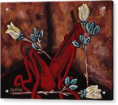 The Red Shoes Acrylic Print by Barbara St Jean