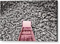 Red Slide Acrylic Print by Kellice Swaggerty
