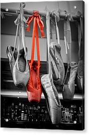 The Red Slipper Acrylic Print by Peta Thames