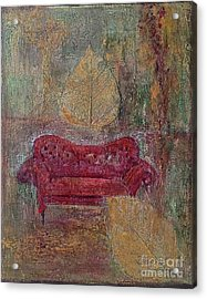 The Red Sofa Acrylic Print