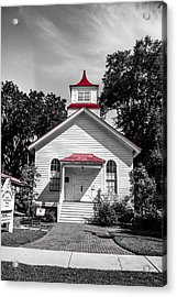 The Red Steeple Acrylic Print by Steven  Taylor