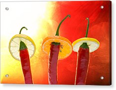 The Red - The Hot - The Chili Acrylic Print by Alexander Senin