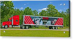The Red Tour Truck Acrylic Print
