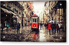 The Red Tram 2 Acrylic Print