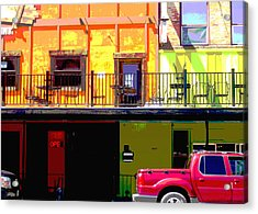 The Red Truck Acrylic Print by Ann Powell