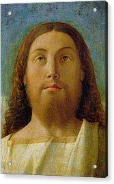 The Redeemer Acrylic Print by Giovanni Bellini
