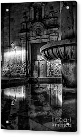 The Reflection Of Fountain Acrylic Print