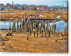 The Remains Of A Wellfleet Bridge Acrylic Print