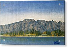 Acrylic Print featuring the painting The Remarkables  by Jane  See