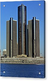 The Renaissance Center, A Skyscraper Acrylic Print
