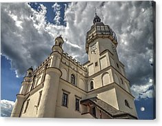 The Renaissance Town Hall In Szydlowiec In Poland Seen From A Different Perspective Acrylic Print