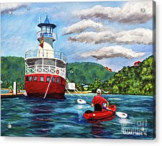 Out Kayaking Acrylic Print