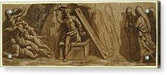 The Resurrection Acrylic Print by Carpi, Ugo Da (c.1480-1520/32), Italian