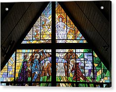 Acrylic Print featuring the glass art The Resurrection by Gilroy Stained Glass