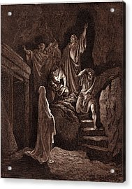 The Resurrection Of Lazarus, By Gustave Dore Acrylic Print by Litz Collection