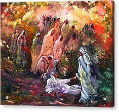 The Resurrection Of Lazarus Acrylic Print by Miki De Goodaboom