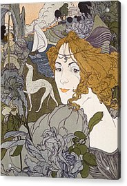 The Return Acrylic Print by Georges de Feure