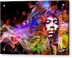 The Return Of Jimi Hendrix Acrylic Print