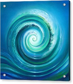 Acrylic Print featuring the painting The Return Wave by Anna Ewa Miarczynska