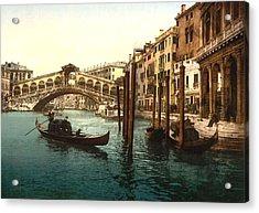 The Rialto Bridge Venice Italy Acrylic Print by L Brown