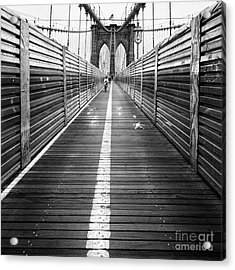The Riders Brooklyn Bridge Acrylic Print by John Farnan