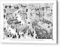 The Rightist Opposition Forms A United Front Acrylic Print by Carl Rose