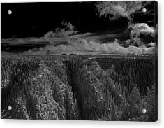Acrylic Print featuring the photograph The Rim by Tom Kelly