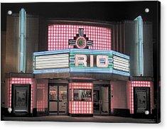 The Rio At Night Acrylic Print
