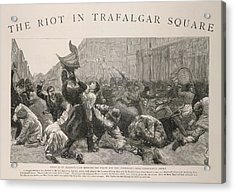 The Riot In Trafalgar Square Acrylic Print by British Library