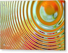 The Ripple Effect Acrylic Print by Mary Machare