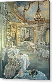 The Ritz Restaurant Oil On Canvas Acrylic Print