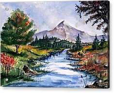Acrylic Print featuring the painting The River by Richard Benson
