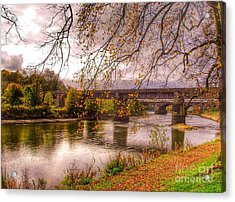 The Riverside At Avenham Park Acrylic Print