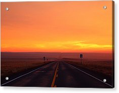 Acrylic Print featuring the photograph The Road Goes On And On by Lynn Hopwood