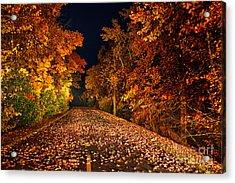 The Road Less Traveled - Blue Ridge Parkway I Acrylic Print by Dan Carmichael