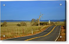 The Road Acrylic Print by Rima Biswas