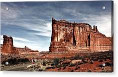The Road Through Arches Acrylic Print by Benjamin Yeager