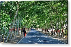 The Road To Amarkantak - Amarkantak India Acrylic Print by Kim Bemis