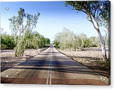Acrylic Print featuring the photograph The Road To Back Of Beyond by Holly Kempe