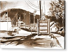 The Road To Farmington Pilot Knob Missouri Acrylic Print